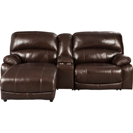 3-Piece Recl Sectional w/ Chaise & Console