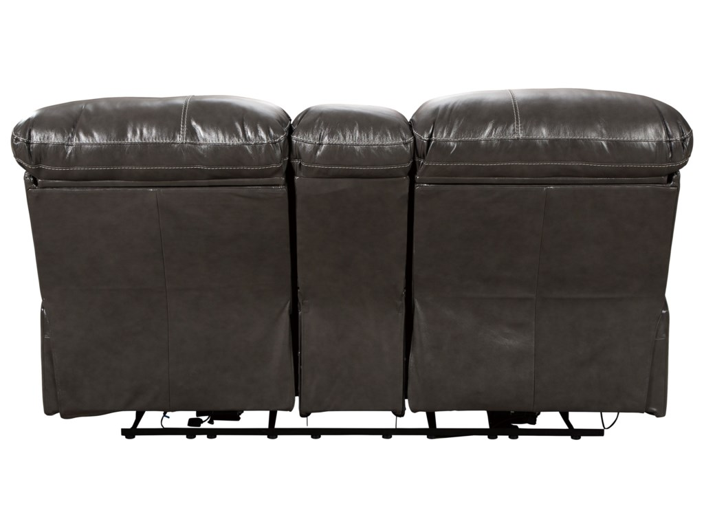 Benchcraft HallstrungPwr Rec Loveseat with Console & Adj Hdrsts