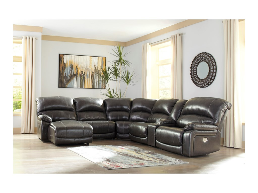 Signature Design by Ashley Hallstrung6-Piece Reclining Sectional with Chaise