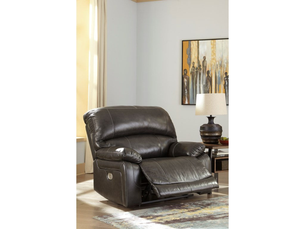Signature Design by Ashley HallstrungZero Wall Power Wide Recliner
