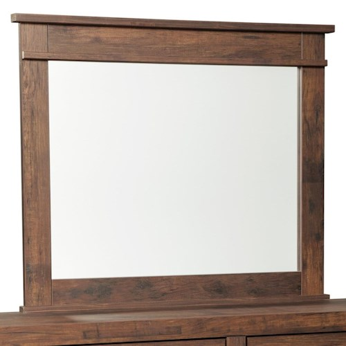 Signature Design by Ashley Hammerstead Rectangular Mirror with Wood Frame