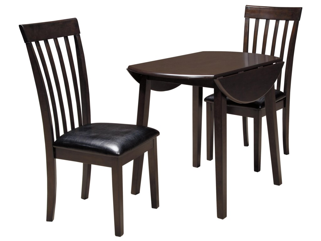 Signature Design By Ashley Hammis 3 Piece Round Drop Leaf Table Set