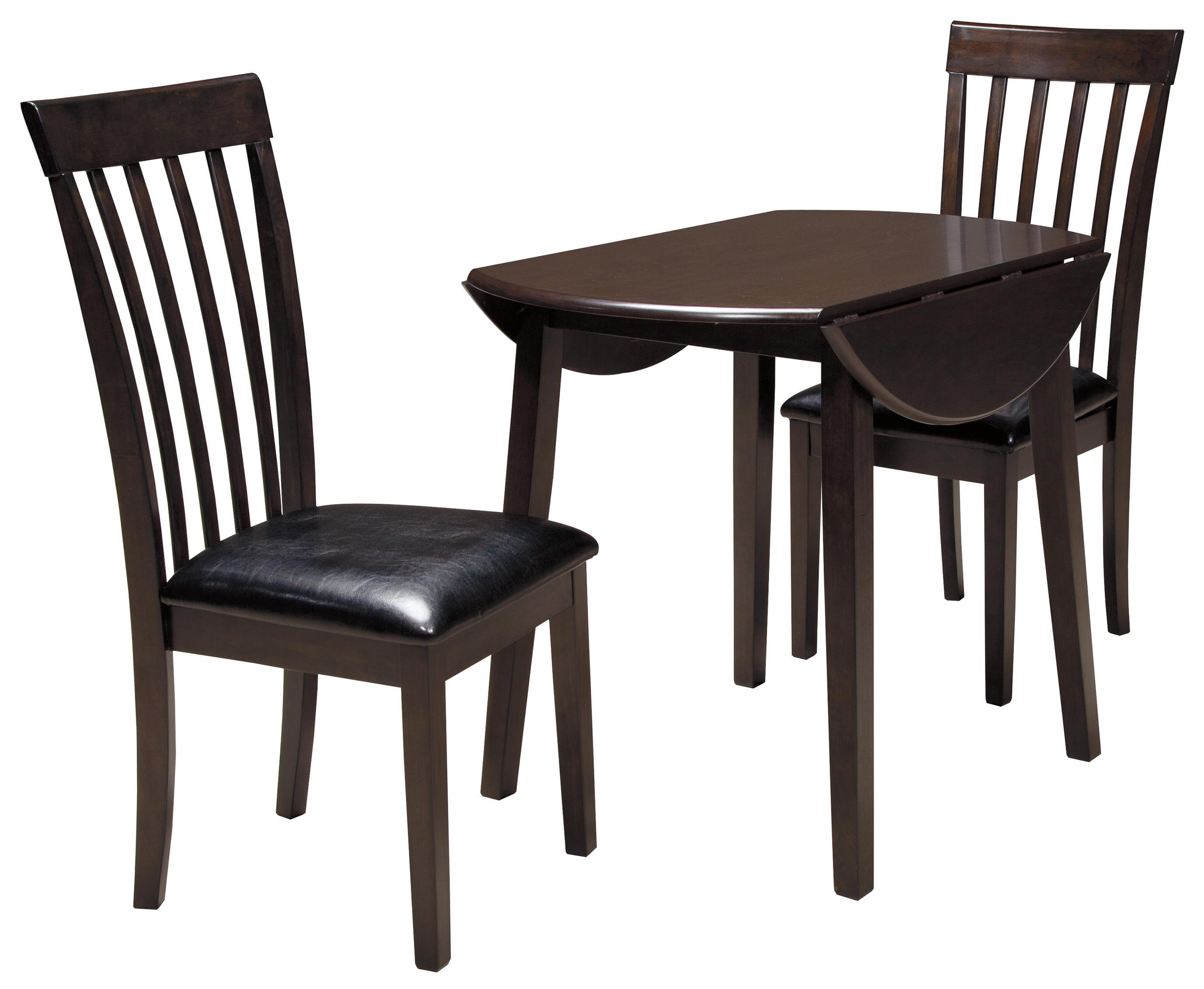 Bon Ashley Signature Design Hammis3 Piece Round Drop Leaf Table Set ...
