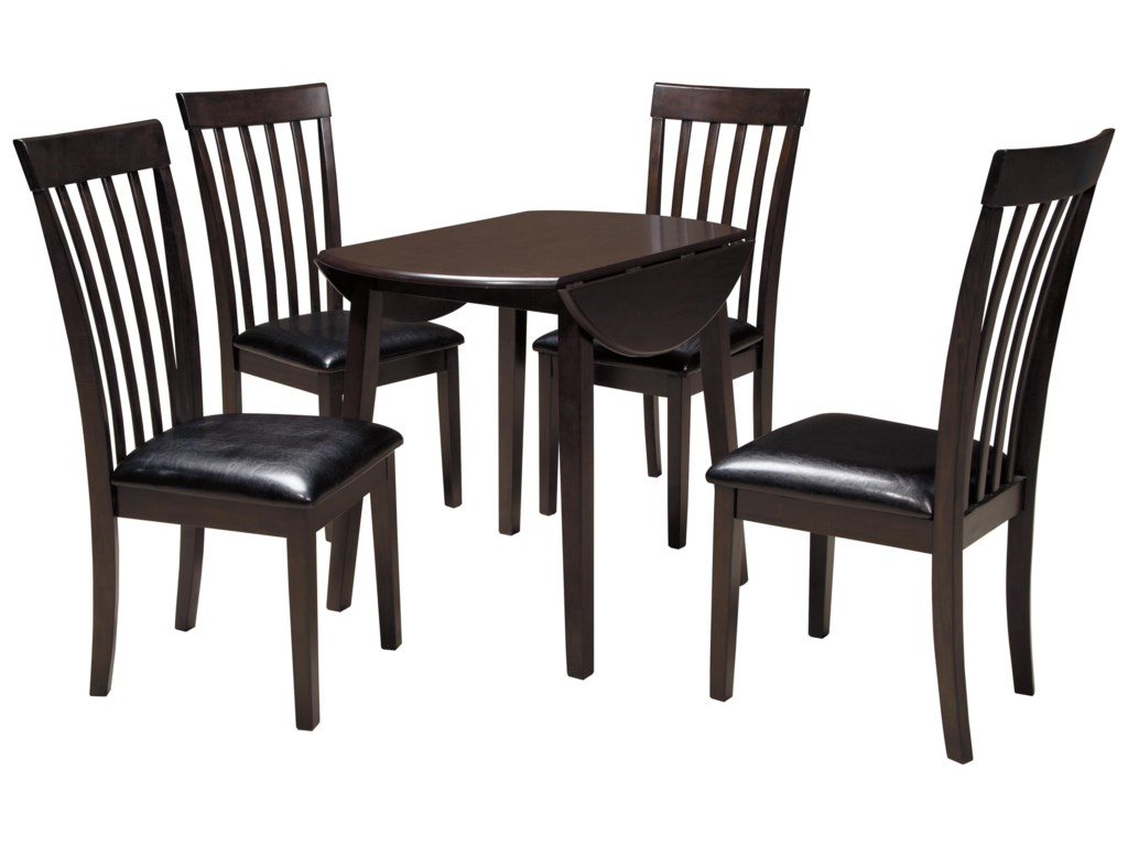 Signature Design by Ashley Hammis5-Piece Round Drop Leaf Table Set
