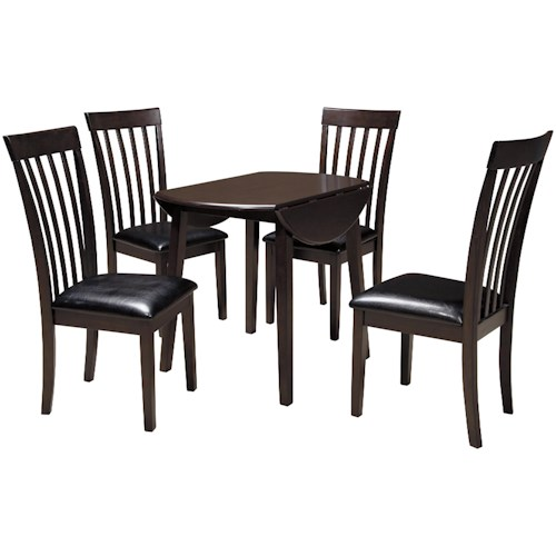 Signature Design by Ashley Hammis 5-Piece Round Drop Leaf Table Set