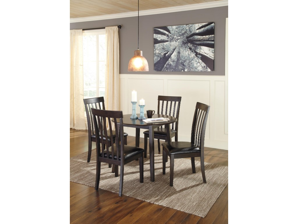 Signature Design by Ashley GriffinRound Dining Room Drop Leaf Table