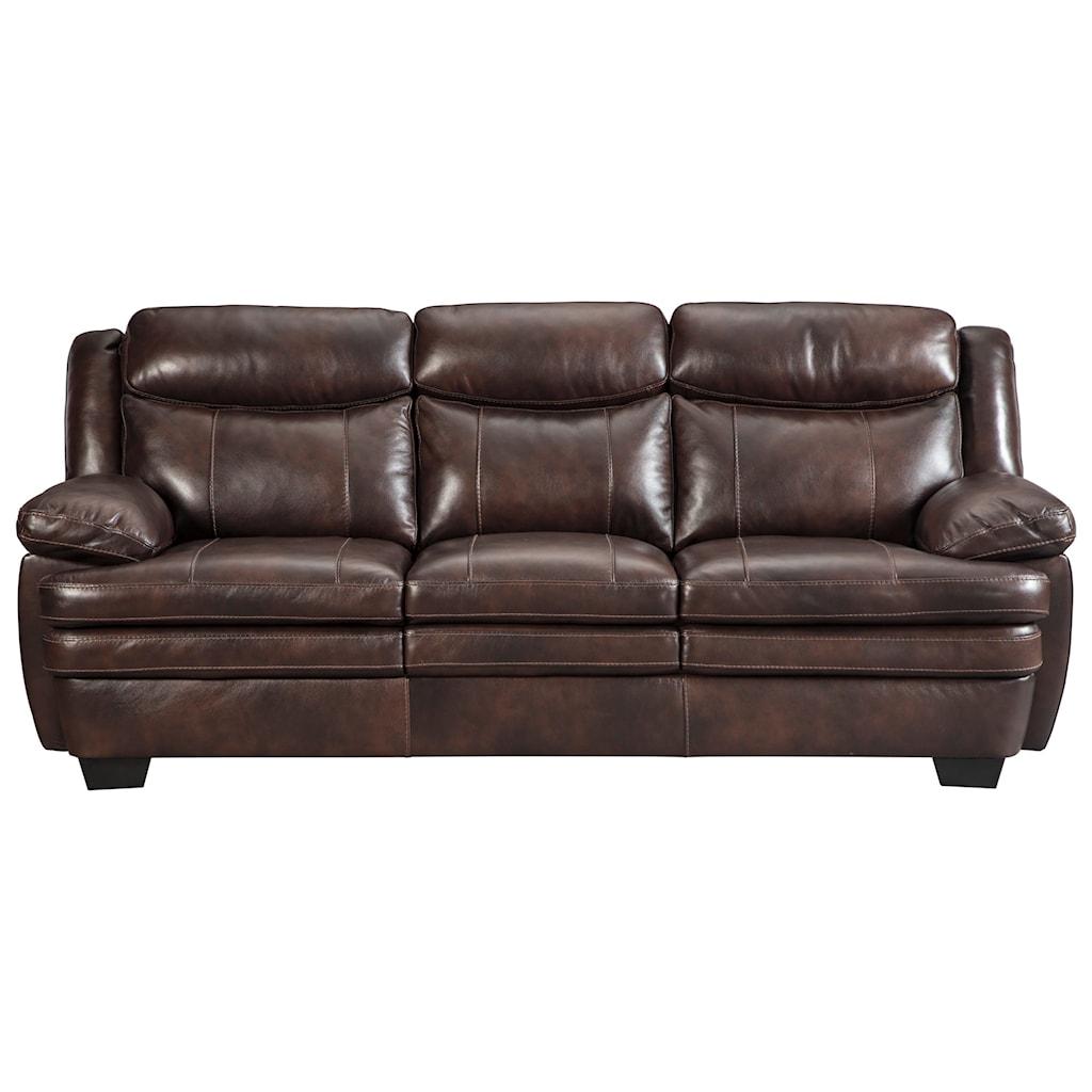 Signature Design By Ashley Hannalore 1530438 Contemporary Leather  ~ Contemporary Leather Sofa