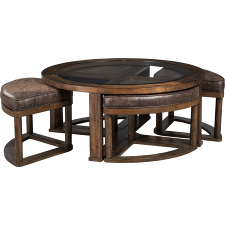 Cocktail Table w/4 Stools