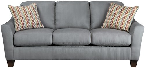 Signature Design by Ashley Hannin - Lagoon Contemporary Queen Sofa Sleeper with Flared Arms
