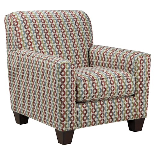 Signature Design by Ashley Talia Accent Chair in Colorful Octagonal Fabric