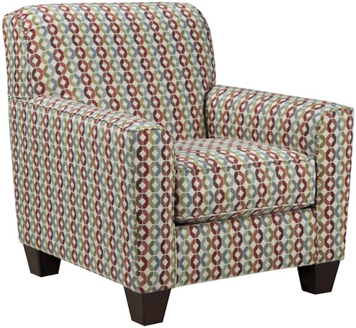 Signature Design by Ashley Hannin Accents - Multi Accent Chair in Colorful Octagonal Fabric