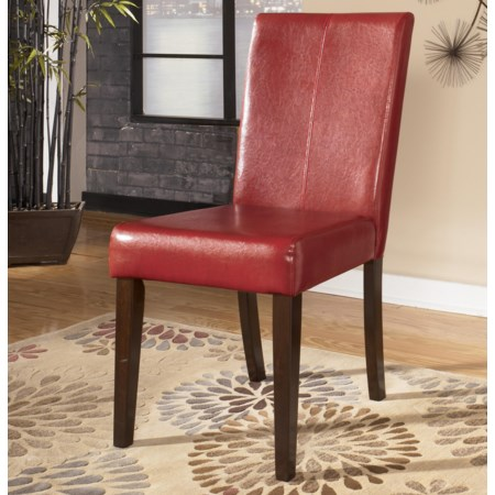 Upholstered Side Chair Red (RTA)