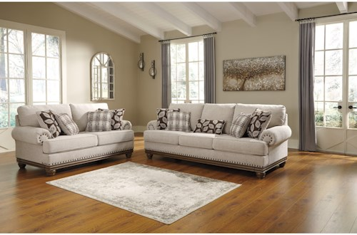 Signature Design by Ashley Harleson Stationary Living Room Group ...