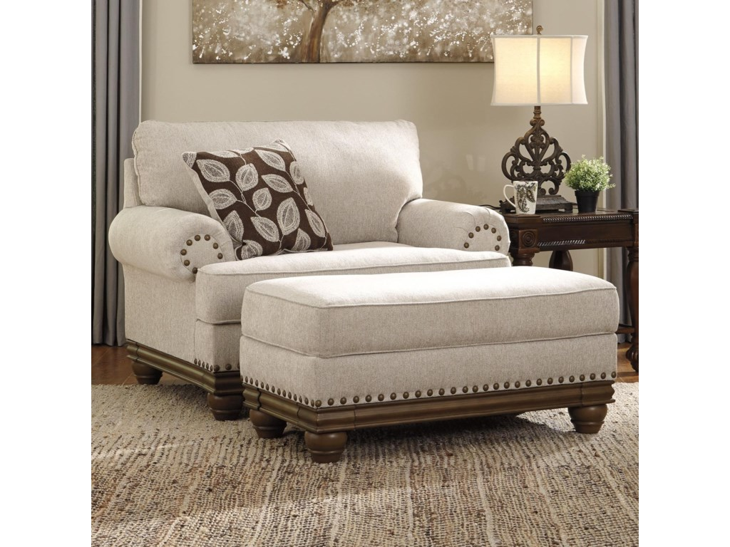 Signature Design by Ashley HarlesonChair and a Half & Ottoman