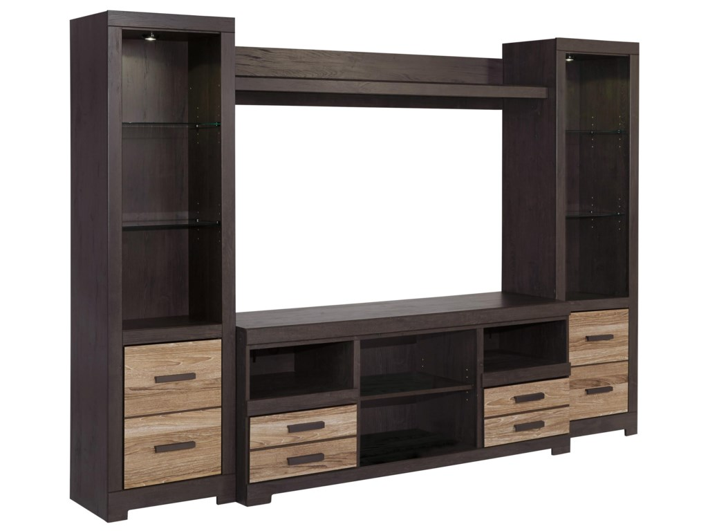 Signature Design By Ashley Harlinton Large Tv Stand 2 Tall Piers