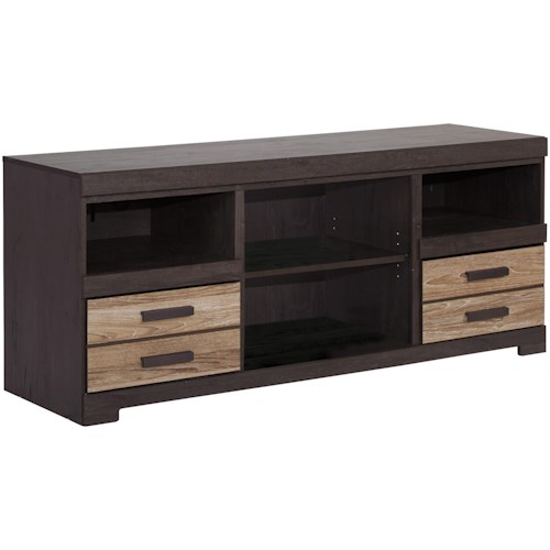 Signature Design by Ashley Harlinton Contemporary Two-Tone Large TV Stand