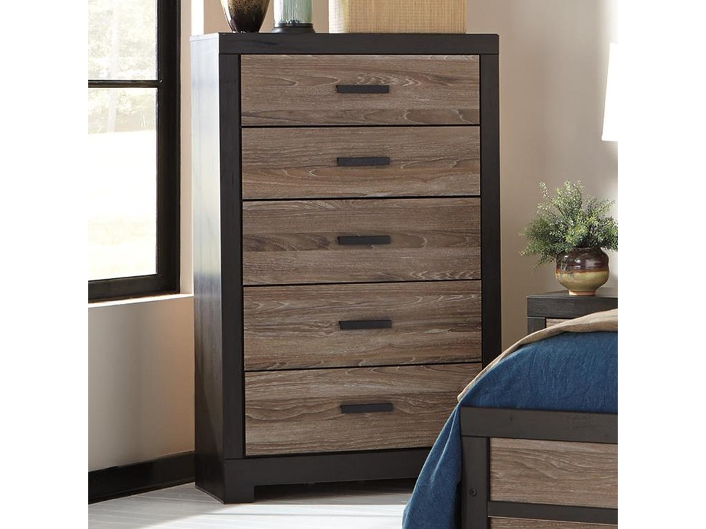Signature design by ashley harlintonfive drawer chest