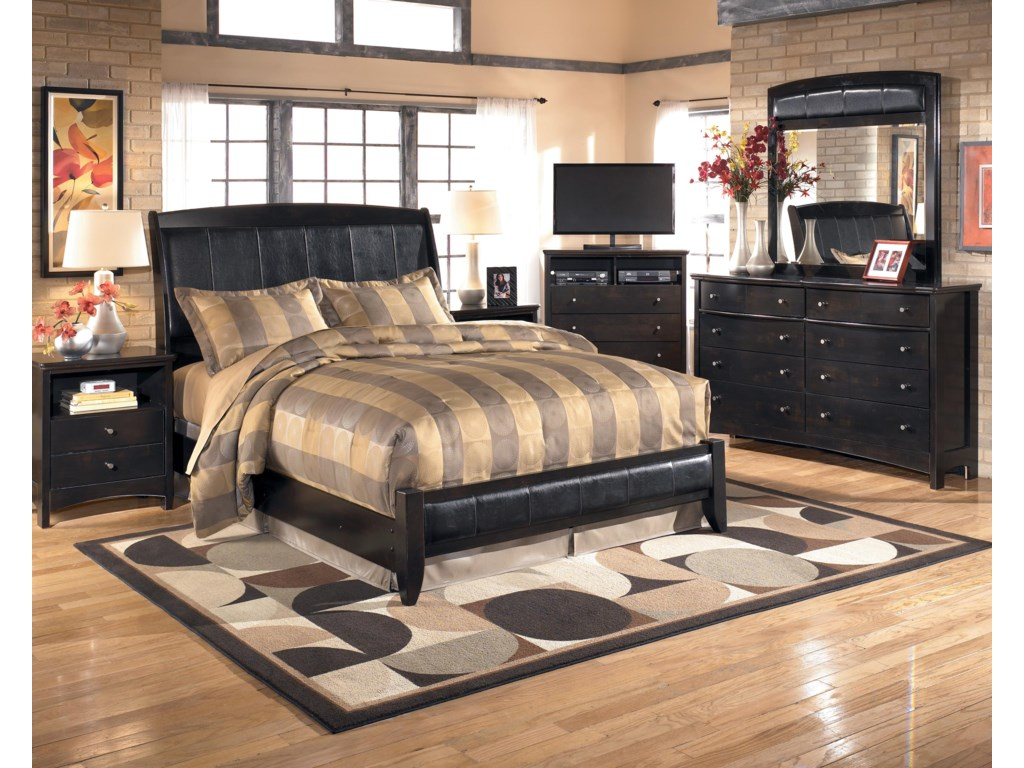 Signature Design by Ashley HarmonyQueen Upholstered Platform Style Bed