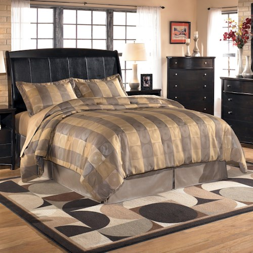 Signature Design by Ashley Harmony King Sleigh Headboard (RTA)