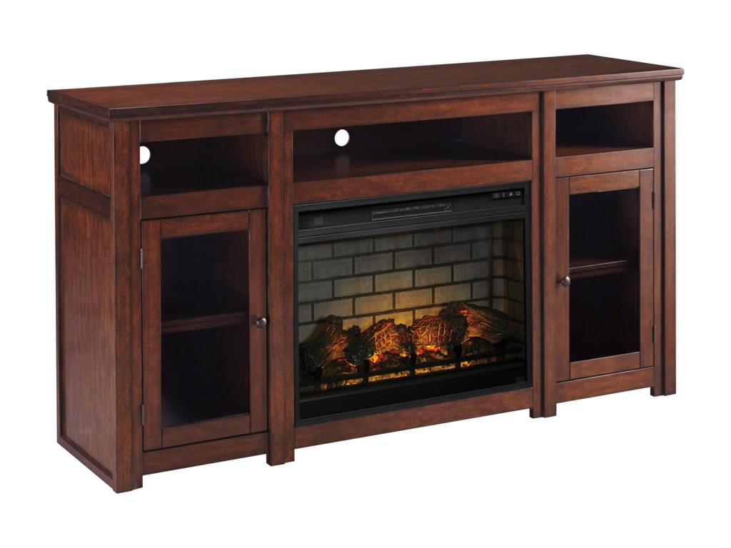 Signature Design by Ashley HarpanExtra Large TV Stand with Fireplace Insert