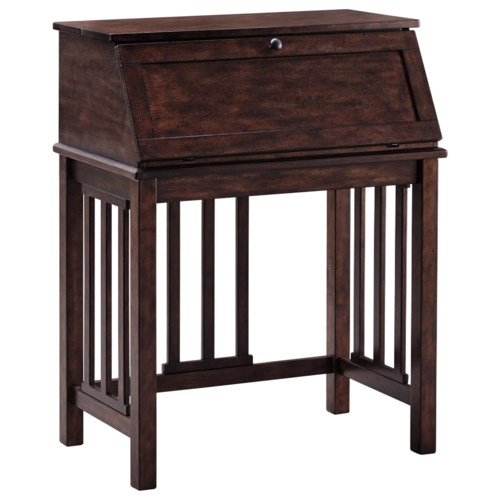 Signature Design By Ashley Harpan Home Office Drop Front