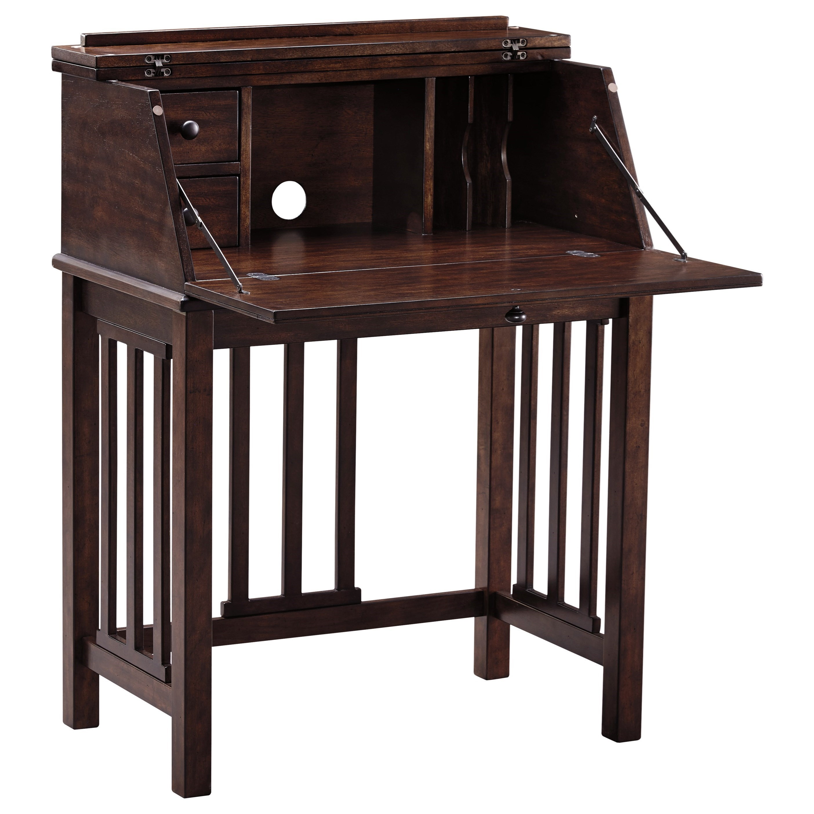 Harpan H797 19 Home Office Drop Front Desk With Mission Style Slats By  Signature Design By Ashley