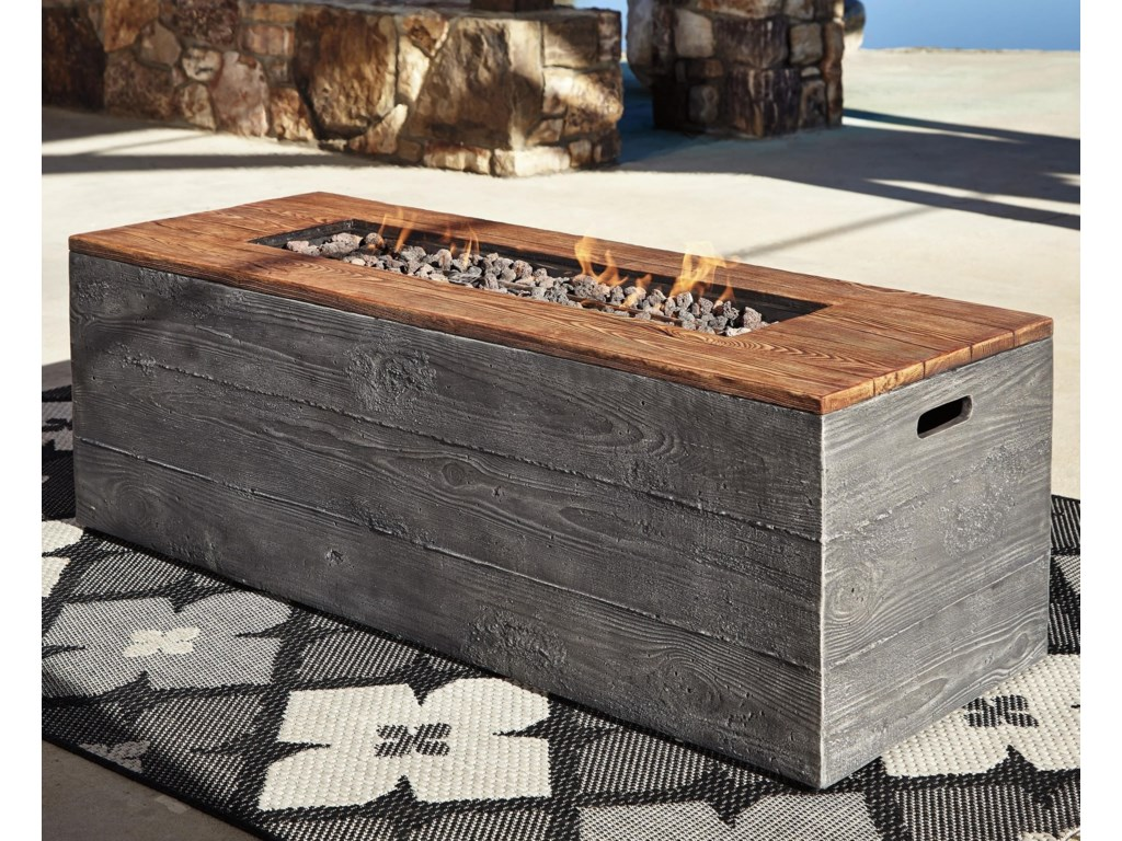 Signature Design by Ashley HatchlandsLow Rectangular Fire Pit Table