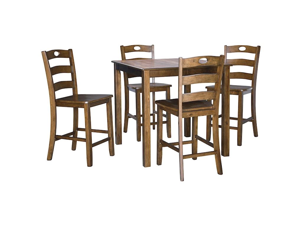 Signature Design by Ashley HazelteenCounter Height Dining Table Set