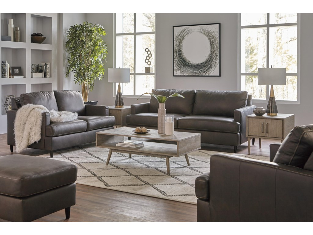 Hettinger Ash Sofa, Chair and Ottoman Set by Signature Design by Ashley at  Sam Levitz Furniture
