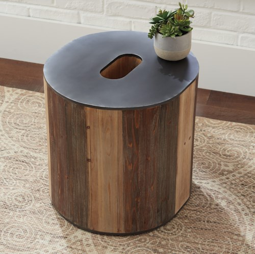 Signature Design by Ashley Highmender O-Shaped Accent Table