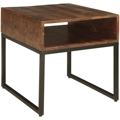 Signature Design by Ashley Hirvanton Contemporary Rectangular End Table