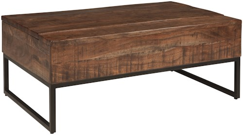 Signature Design by Ashley Hirvanton Contemporary Lift Top Cocktail Table