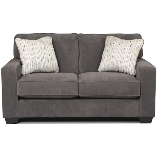 Signature Design by Ashley Hodan - Marble Contemporary Loveseat with Track Arms