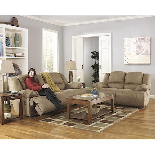 Signature Design by Ashley Hogan - Mocha Reclining Living Room Group