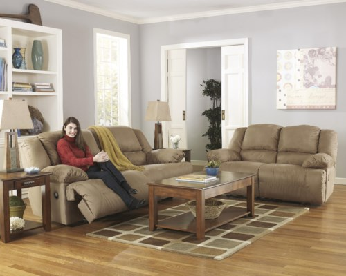 Signature Design By Ashley Hogan Mocha Reclining Living Room Group