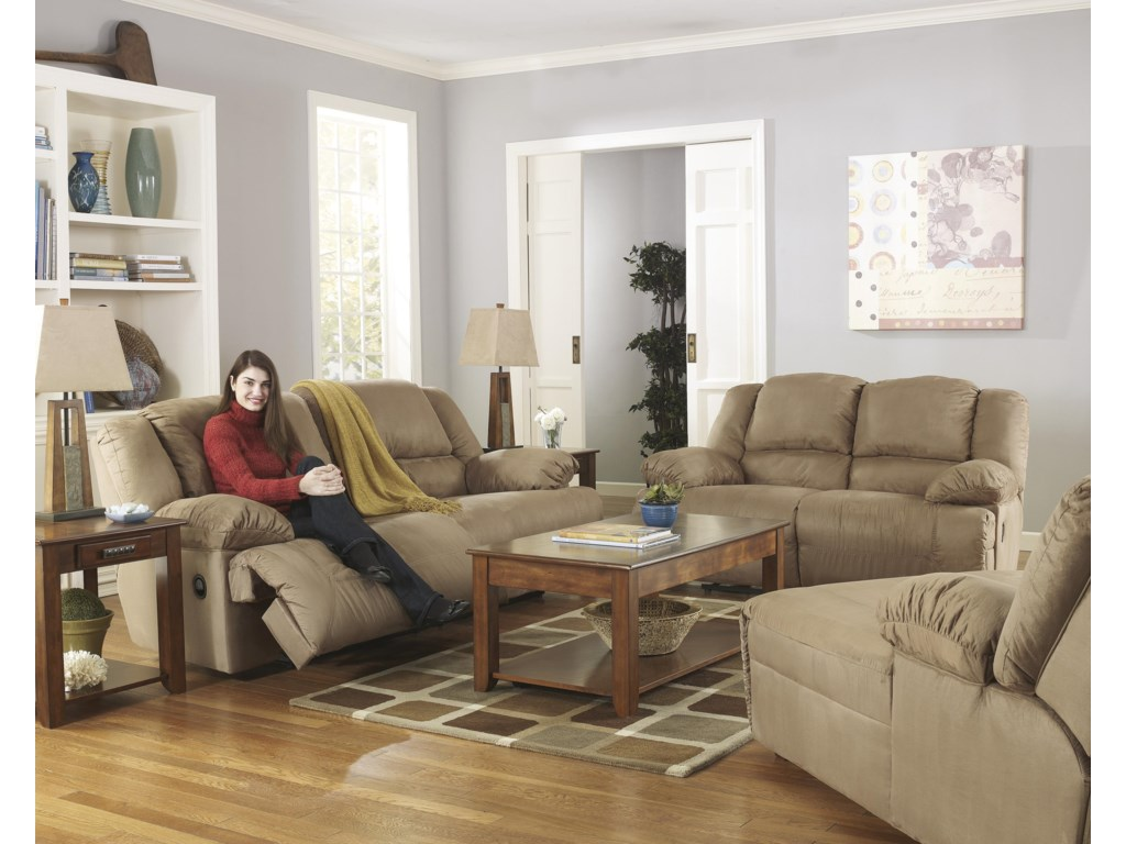 Ashley Signature Design Hogan Mochareclining Living Room Group