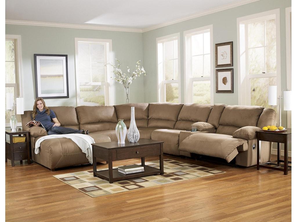 Signature Design by Ashley Hogan - Mocha6 Piece Sectional Sofa Group