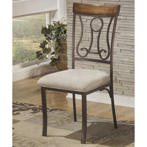 Signature Design by Ashley Hopstand Dining Upholstered Side Chair with Harp Back