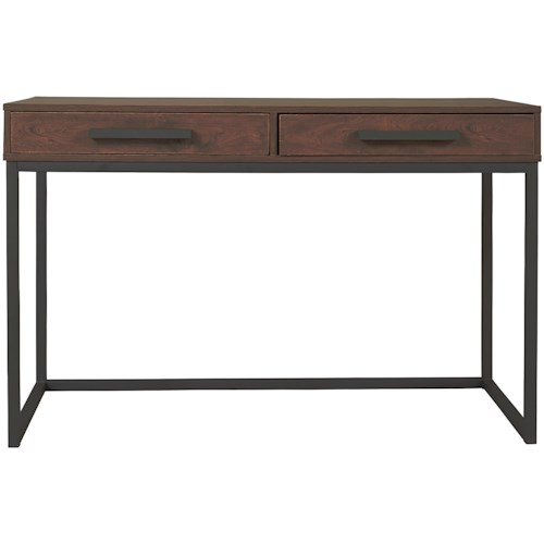 Signature Design by Ashley Horatio Home Office Small Desk with 2 Drawers