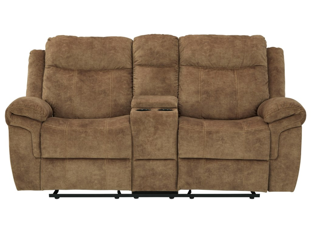 Signature Design by Ashley Huddle-UpDouble Reclining Loveseat w/ Console