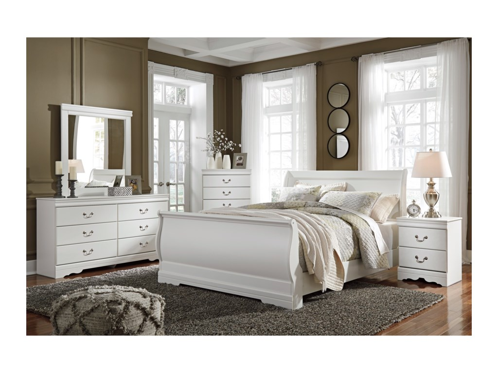 Signature Design by Ashley Aubrey : White4-Piece Bedroom Group