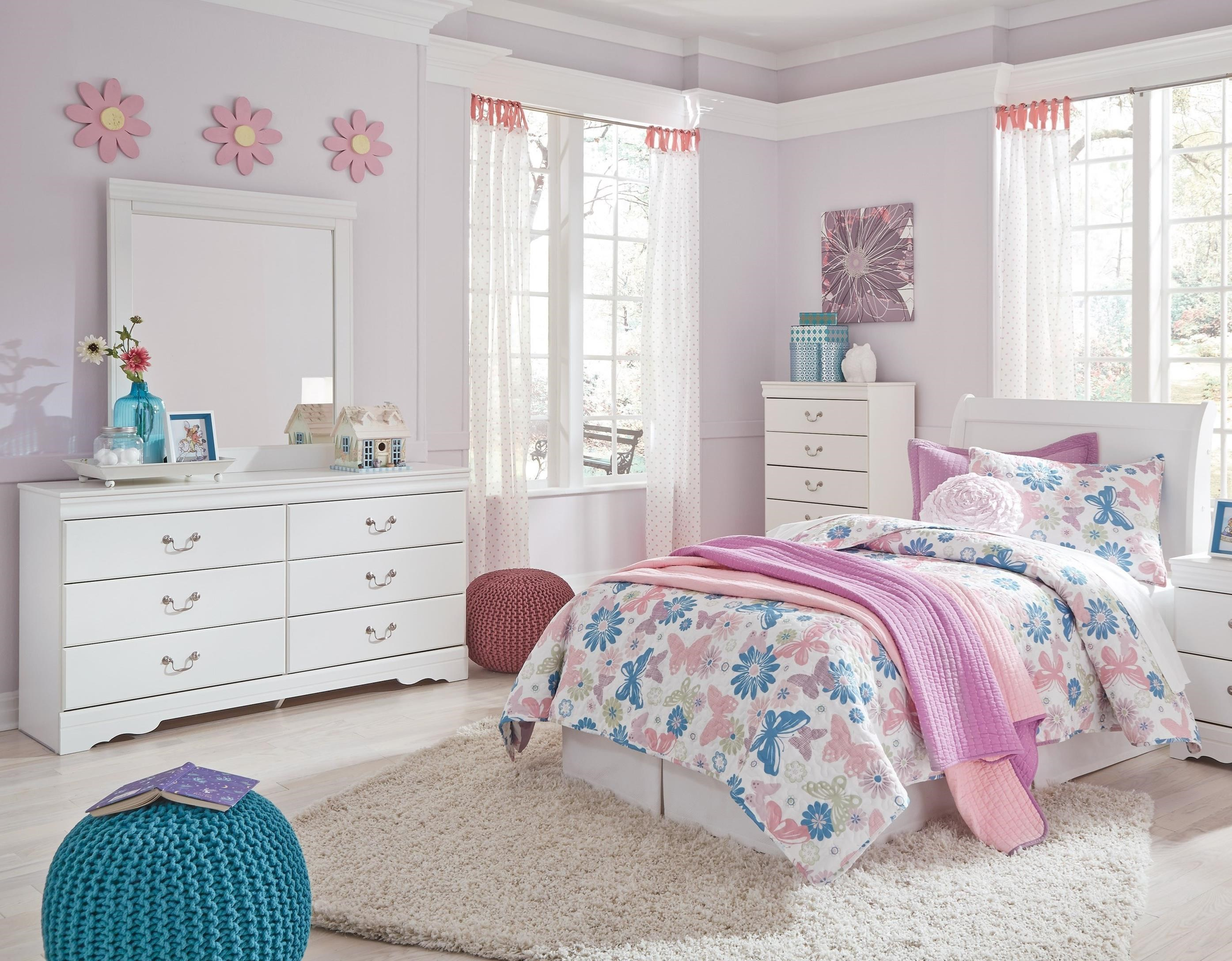 Bedroom Groups: Signature Design By Ashley Anarasia 3 Piece Twin Bedroom