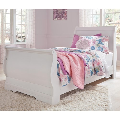 Signature Design by Ashley Anarasia Twin Louis Philippe Sleigh Bed