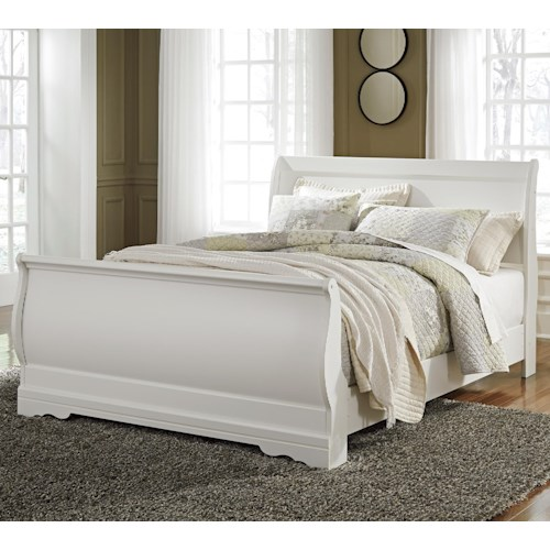 Signature Design by Ashley Anarasia Queen Louis Philippe Sleigh Bed