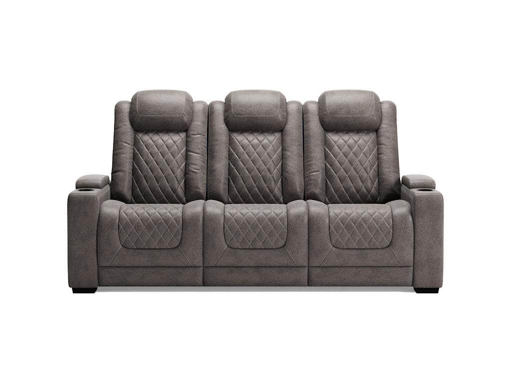 Signature Design by Ashley HyllmontPwr Rec Sofa with Adj Headrests