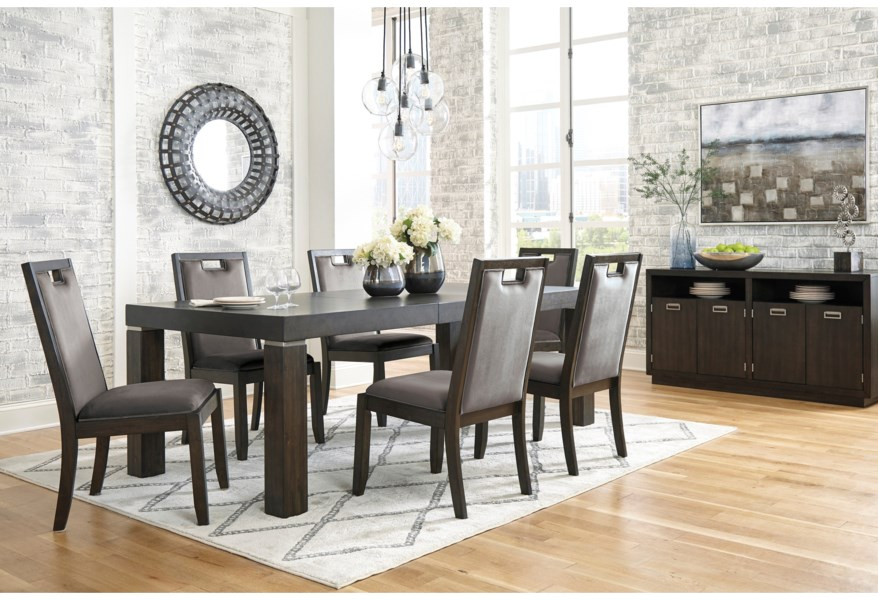 Signature Design By Ashley Hyndell D731 Dining Room Group 1 Dining Room Group Pilgrim Furniture City Formal Dining Room Groups