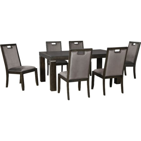 7-Piece Rectangular Dining Table Set
