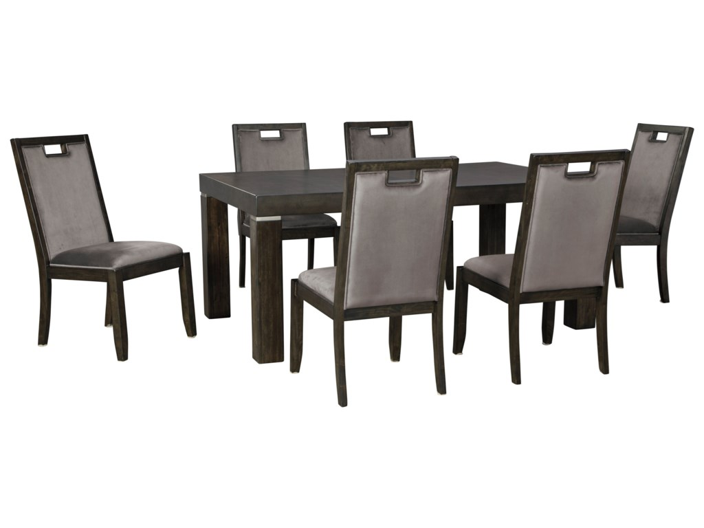 Signature Design by Ashley Hyndell7-Piece Rectangular Dining Table Set