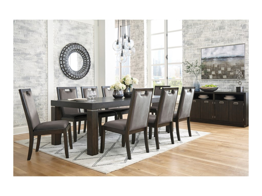 Signature Design by Ashley Hyndell9-Piece Rectangular Dining Table Set