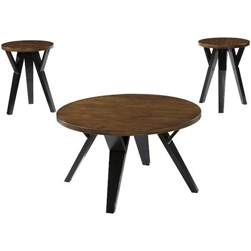 Signature Design by Ashley Ingel Retro-Contemporary 3-Piece Occasional Table Set